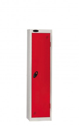 Probe Low Height 1 Door Steel Key Locking Storage Locker red