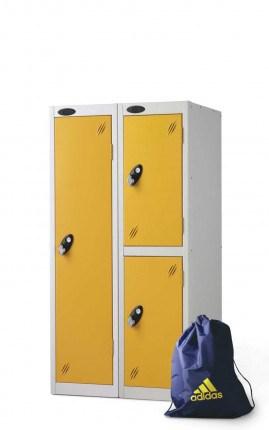 Probe 2 Door Low Locker 1210mm high Yellow doors and silver body