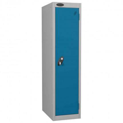 Probe Low 1 Door Steel Locker with Padlock Latch Hasp Lock blue