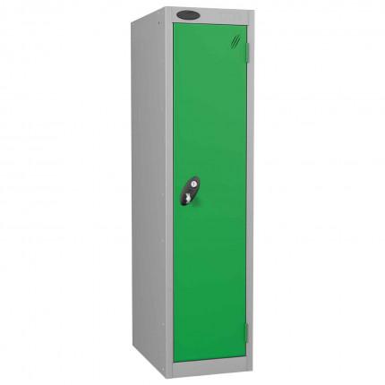 Probe Low 1 Door Steel Locker with Padlock Latch Hasp Lock green