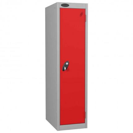 Probe Low 1 Door Steel Locker with Padlock Latch Hasp Lock red