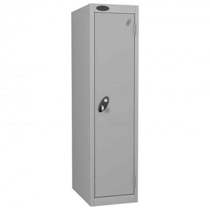 Probe Low 1 Door Steel Locker with Padlock Latch Hasp Lock silver grey