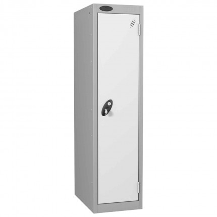 Probe Low 1 Door Steel Locker with Padlock Latch Hasp Lock white