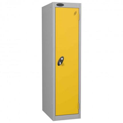 Probe Low 1 Door Steel Locker with Padlock Latch Hasp Lock yellow