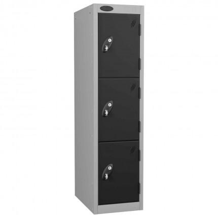 Probe Low 3 Door Steel Locker Padlock Latch Hasp Lock black