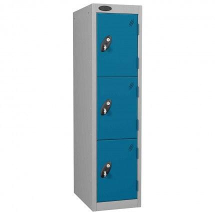 Probe Low 3 Door Steel Locker Padlock Latch Hasp Lock blue