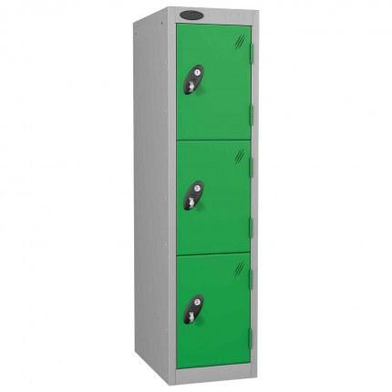 Probe Low 3 Door Steel Locker Padlock Latch Hasp Lock green