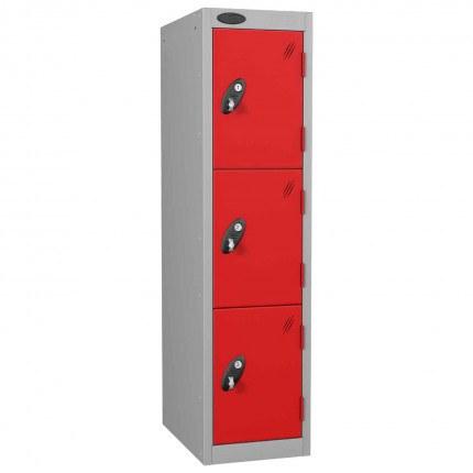 Probe Low 3 Door Steel Locker Padlock Latch Hasp Lock red