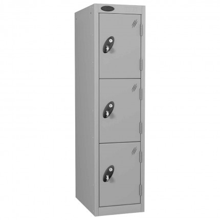 Probe Low 3 Door Steel Locker Padlock Latch Hasp Lock silver grey