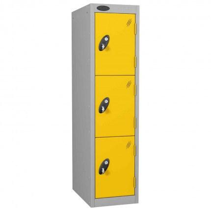 Probe Low 3 Door Steel Locker Padlock Latch Hasp Lock yellow