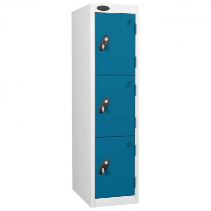 Probe Primary School 3 Door Lockers - Blue Doors