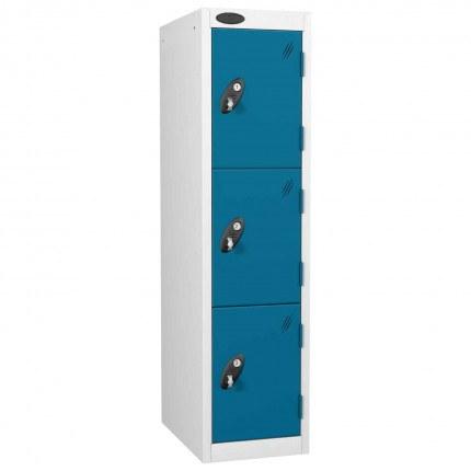 Probe 3 Door Medium Height Storage Locker Latch Hasp Lock - Blue Doors