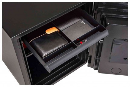 Phoenix Spectrum LS6001EDG Digital D/Grey 60 min Fire Safe - drawer extended