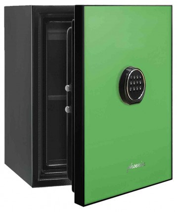 Phoenix Spectrum LS6001EG Digital Green 60 min Fire Safe - door ajar