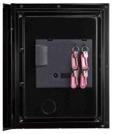 Phoenix Spectrum Plus LS6012FS Metallic Silver Luxury Fire Security Safe - door key rack