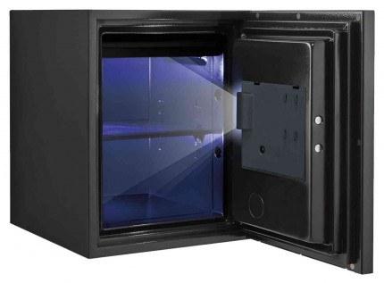 Phoenix Spectrum Plus LS6012FS Metallic Silver Luxury Fire Security Safe = interior light