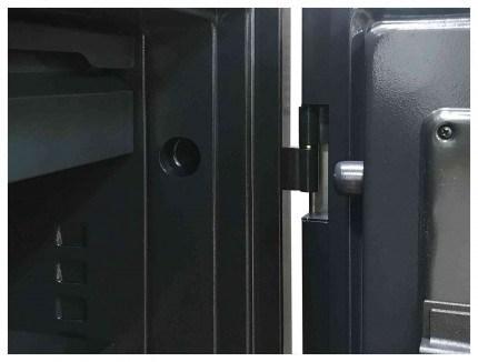 Phoenix Spectrum Plus LS6012FB Titanium 90 min Fire Safe - door hinges