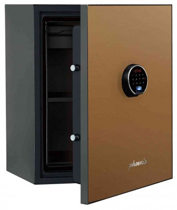 Phoenix Spectrum Plus LS6012FG Champagne Gold Luxury Fire Security Safe - door ajar