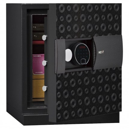 Phoenix Next LS7001FB Luxury Black 60 mins Fire Security Safe - door ajar