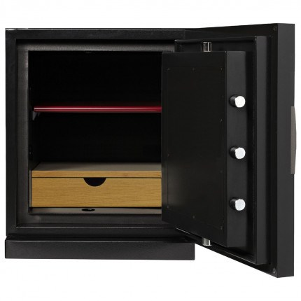 Phoenix Next LS7001FB Luxury Black 60 mins Fire Security Safe - interior view