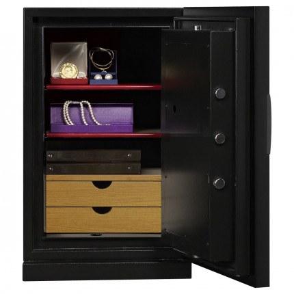 Phoenix Next LS7002FB Luxury Black 60 mins Fire Security Safe - interior view