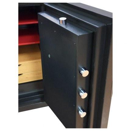 Phoenix Next LS7002FB Luxury Black 60 mins Fire Security Safe - door bolts