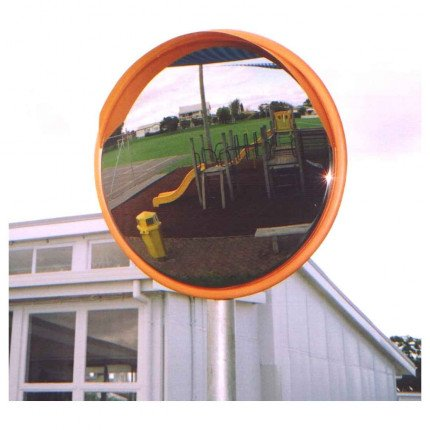 Securikey M16066C Stainless Steel Blindspot Mirror 600mm fiited to a post