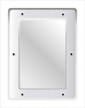 Securikey M16243R Stainless Steel Anti-Vandal Vanity Mirror 40x30cm
