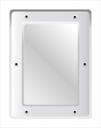 Securikey M16243R Flat Polycarbonate Anti-Vandal Vanity Mirror 40x30cm