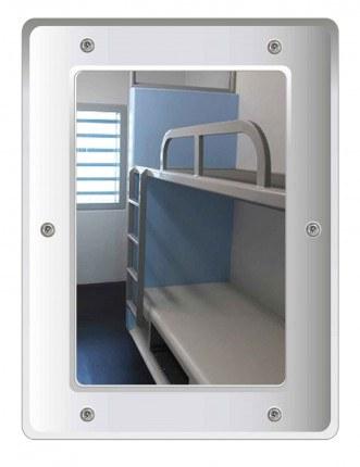 Securikey M16243R Stainless Steel Anti-Vandal Vanity Mirror 40x30cm - visual