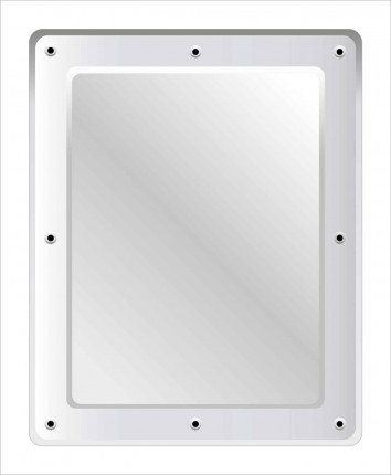 Securikey M16254R Flat Stainless Steel Anti-Vandal Vanity Mirror 50x40cm