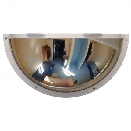 Duravision Institutional Mirror Stainless Anti-Ligature 500x250mm 1/2 Dome