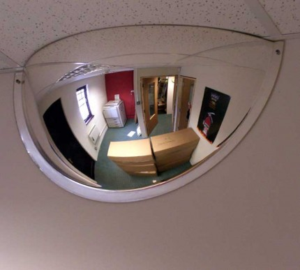 Securikey M18535H 1/2 Dome Convex Wall Mirror 600mm - on wall