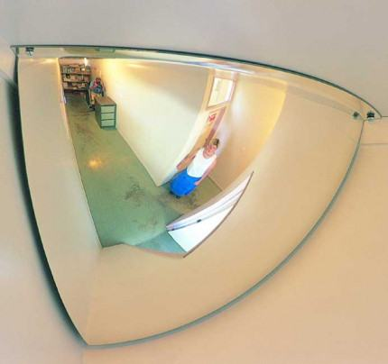 Securikey M18541H 1/4 Dome Convex Wall Mirror 300x300mm