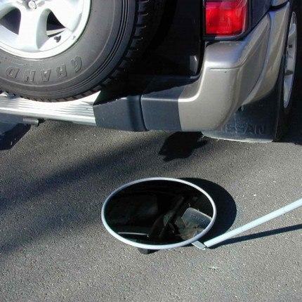 Security Inspection Mirror & Castors - Securikey 45cm