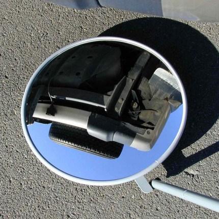 Security Inspection Mirror & Castors - Securikey 45cm  close up
