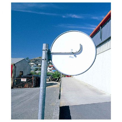 Outdoor Convex Mirror 450mm - Securikey Econovex  fixed to a post