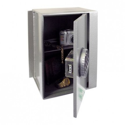 Churchill Magpie M4 wall safe with a Digital Lock Option with door half open