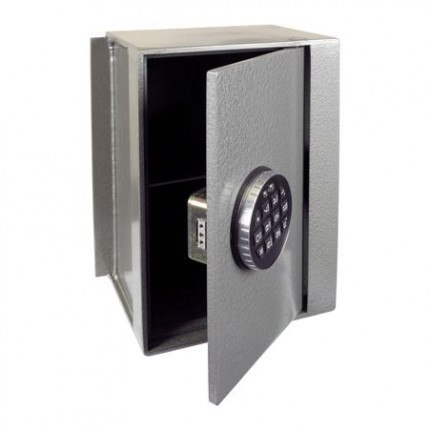 Churchill Magpie M4 wall safe with a Digital Lock Option with door ajar