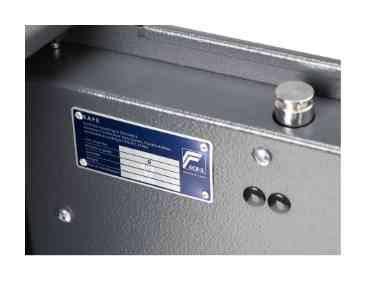 Burg Wachter Magno MT520S Eurograde 0 Key Lock Safe - Test certification plate