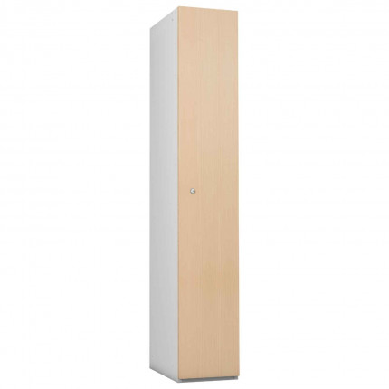Probe 1 Door Maple TimberBox MDF Woodgrain Door Steel Locker