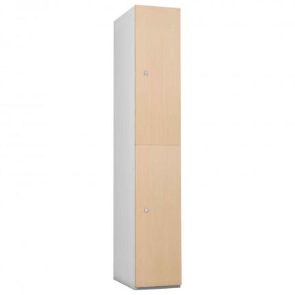Probe 2 Door Maple TimberBox MDF Woodgrain Door Steel Locker