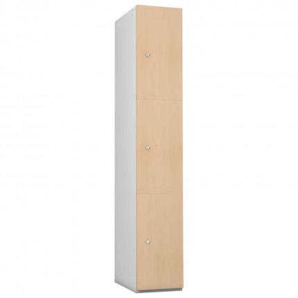 Probe 3 Door Maple TimberBox MDF Woodgrain Door Steel Locker