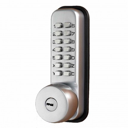 Mechanical Push Button Lock with key override