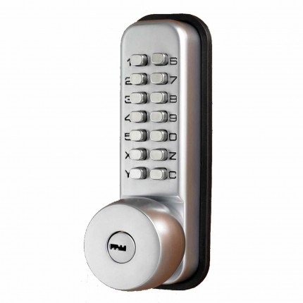 Key Secure Mechanical Push Button Slam Shut Lock with key override