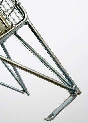 Zinc Plated Wire Mesh Locker Single 1 Door 305x305mm  leg detail