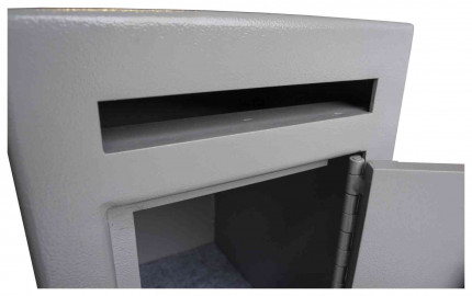 Burton Mini Teller Day Deposit Safe Key Locking  - door open