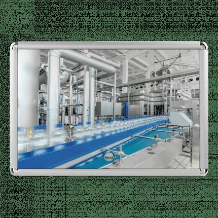 Vialux 4201PL 44x124cm Flat Safety Mirror | Aluminium Frame