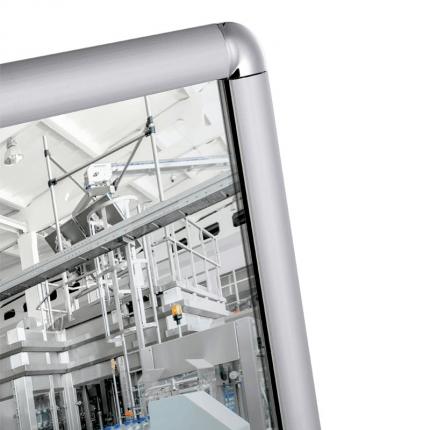 Vialux 4201PL 44x124cm Flat Safety Mirror | Aluminium Frame detail