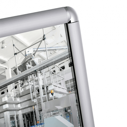 Vialux 6801PL 64x84cm Flat Safety Mirror | Aluminium Frame detail